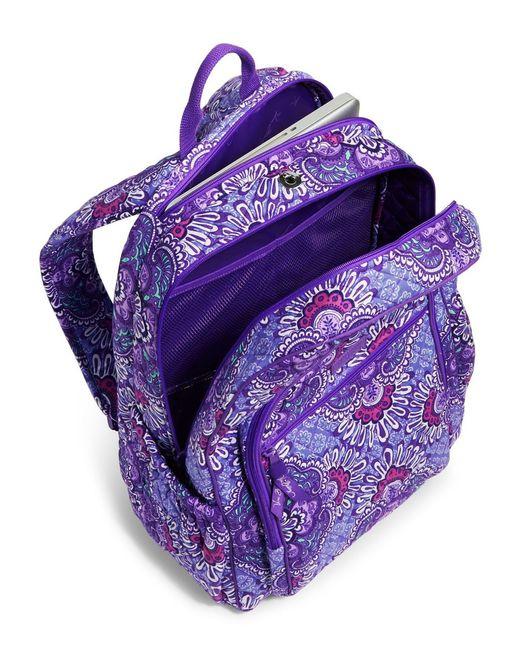 Vera Bradley Campus Laptop Backpack In Purple Lyst
