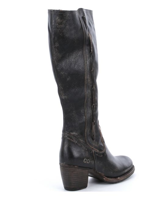 bed stu fate distressed leather boots in black lyst