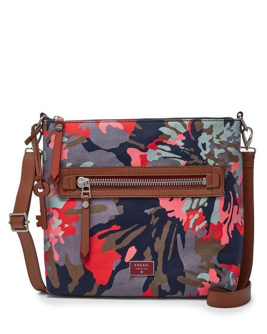 Fossil | Multicolor Vickery Fabric Crossbody | Lyst