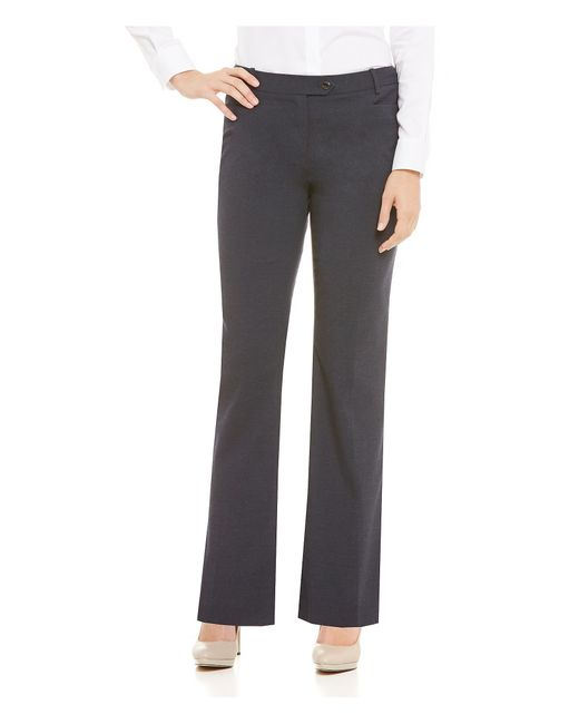 Calvin klein heathered luxe stretch modern fit straight leg pants in