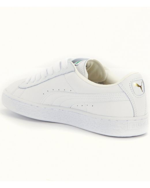puma women s basket classic sneakers in white lyst. Black Bedroom Furniture Sets. Home Design Ideas