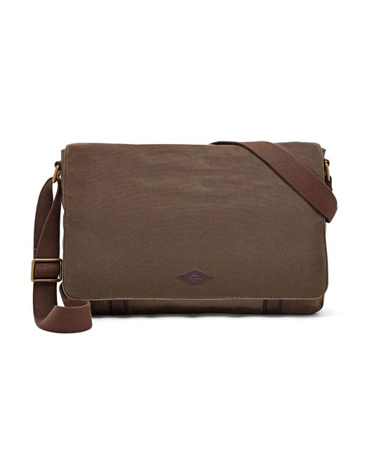 Beautiful Fossil Graham Canvas Messenger Bag In Green For Men | Lyst