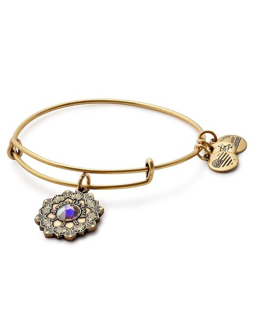 ALEX AND ANI | Metallic Mother Of The Bride Charm Bangle Bracelet | Lyst