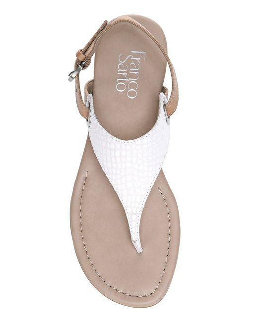 Franco Sarto Grip Sanke Print Thong Sandals Lyst