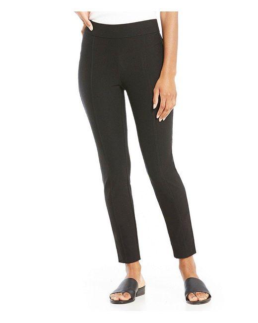 Eileen Fisher | Black Petites Slim Pants | Lyst