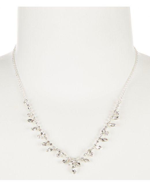 Cezanne - Metallic Points Rhinestone Frontal Necklace - Lyst