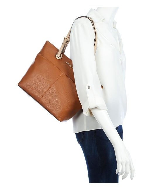 d113aa264b72 ... coupon code for michael michael kors brown bedford pocket tote lyst  7d54e 251b5