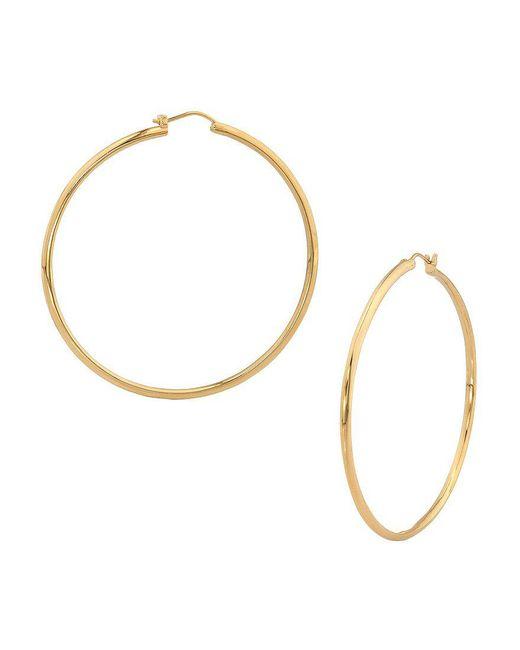 Nadri - Metallic Large Round Knife Edge Hoop Earrings - Lyst