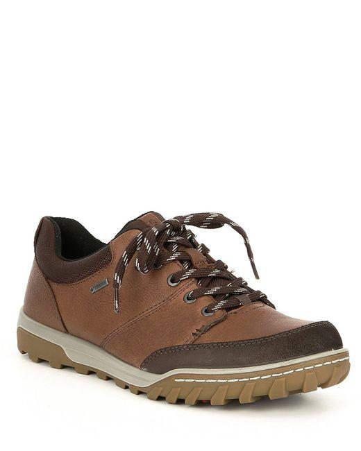 Ecco - Brown Men's Urban Ely Gtx Leather Sneakers for Men - Lyst