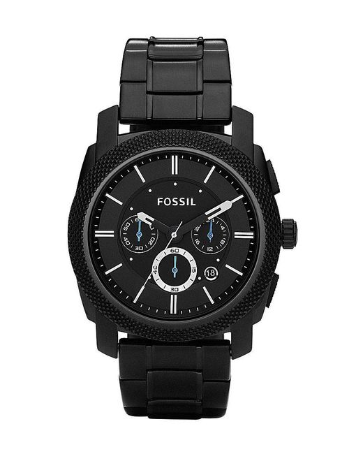 Fossil - Machine Black-dial Chronograph Watch - Lyst