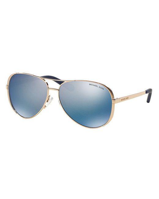 Michael Kors | Blue Chelsea Polarized Aviator Sunglasses | Lyst