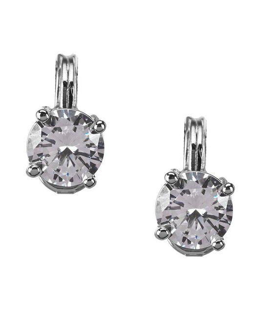 Anne Klein | Metallic Sparkling Ears Cubic Zirconia Stud Clip-on Earrings | Lyst