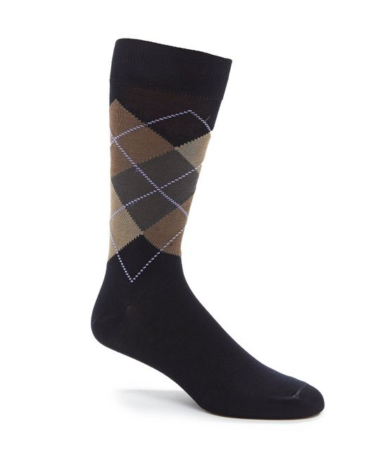 Cremieux - Blue Argyle Dress Socks for Men - Lyst