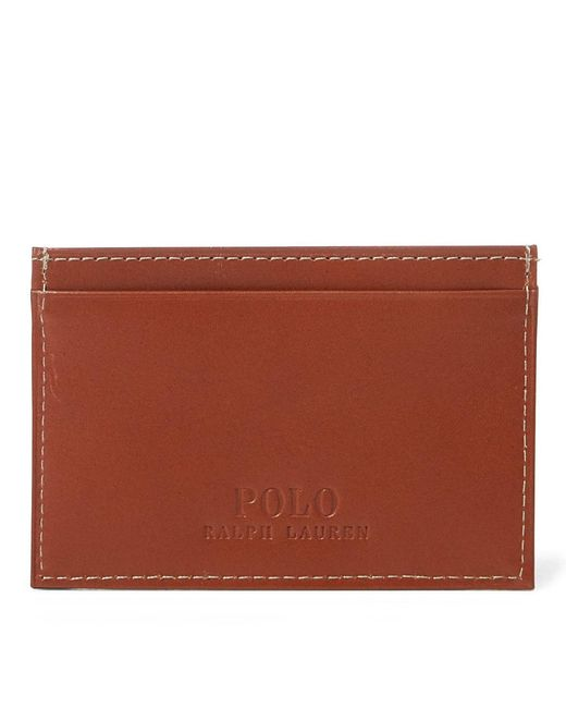 Polo Ralph Lauren - Brown Burnished Leather Card Case for Men - Lyst