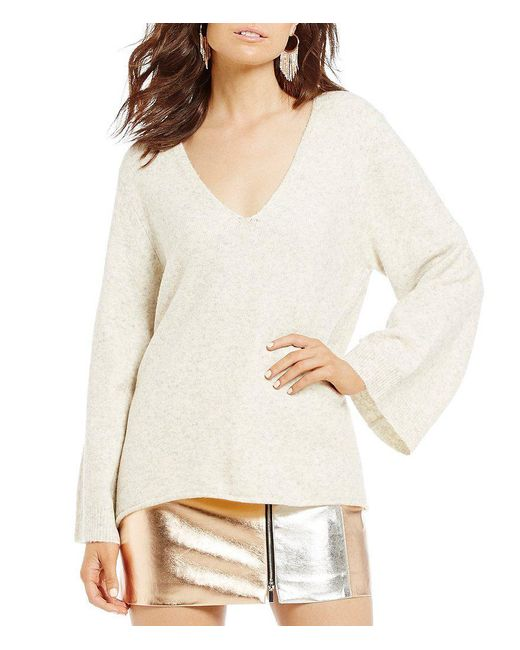 French Connection | Multicolor Urban Flossy Bell Sleeve Sweater | Lyst