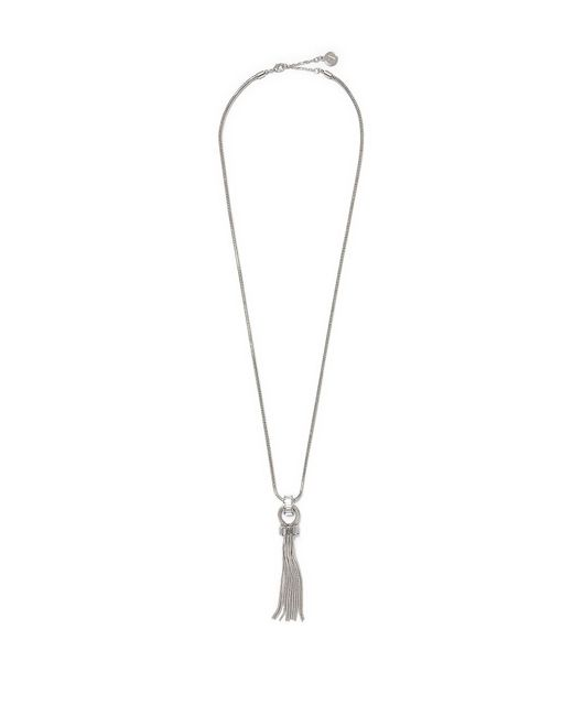 Vince Camuto - Metallic Snake-chain Fringe Necklace - Lyst