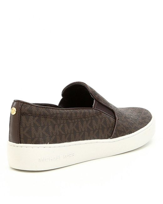 424f20236283 ... MICHAEL Michael Kors - Brown Keaton Slip-on Sneakers - Lyst ...