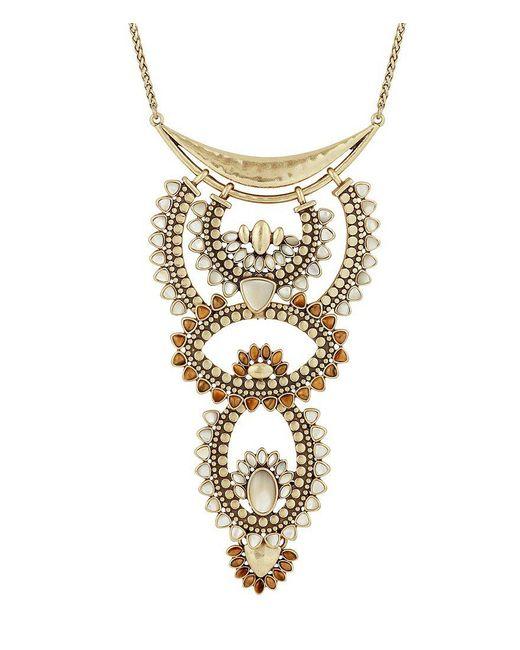 Lucky Brand   Metallic Quartz Rock Crystal Sunburst Statement Necklace   Lyst