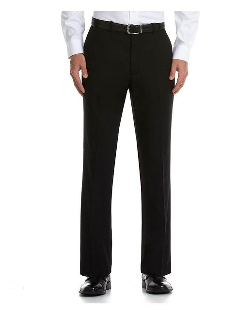 Perry Ellis | Black Flat-front Corded Pants for Men | Lyst