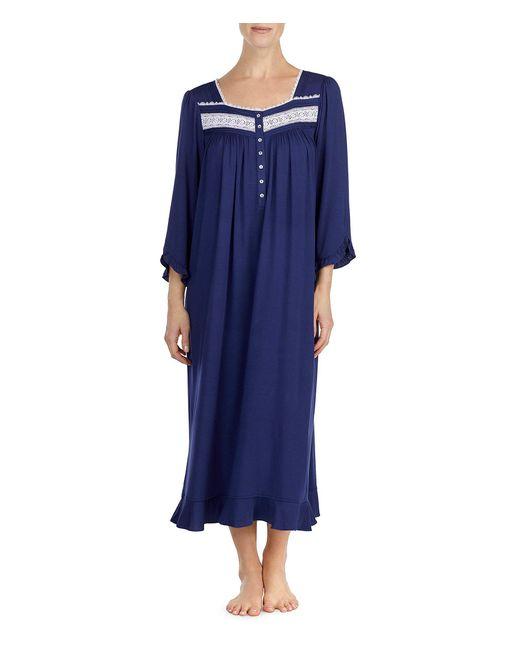 Eileen West - Blue Three-quarter Sleeve Ballet Nightgown - Lyst