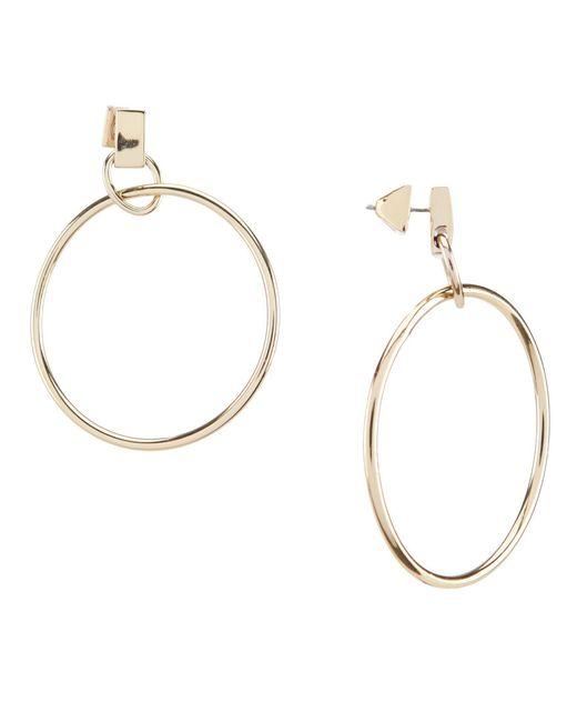 Vince Camuto - Metallic Metal Hoop Earrings - Lyst