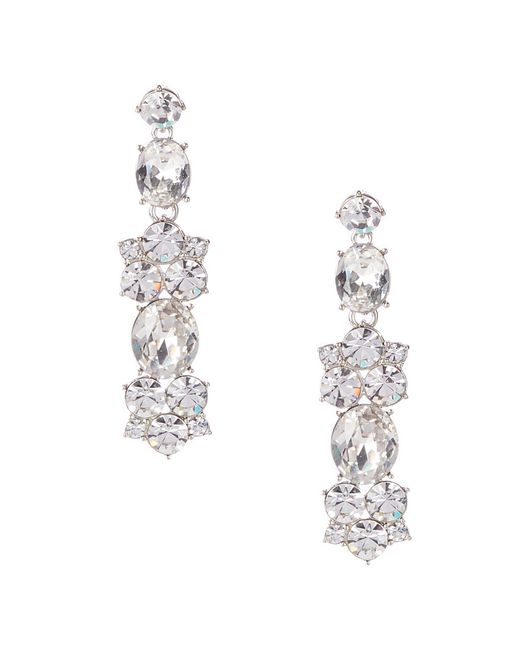Givenchy - Metallic Crystal Large Cluster Drop Earrings - Lyst