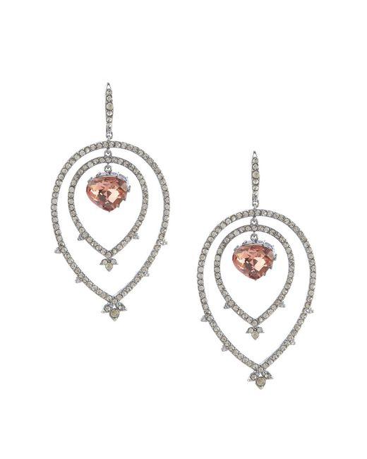 Jenny Packham - Metallic Amethyst Stone Pave Orbital Earrings - Lyst