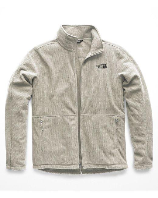 The North Face - Gray Texture Cap Rock Full Zip Fleece Jacket for Men - Lyst