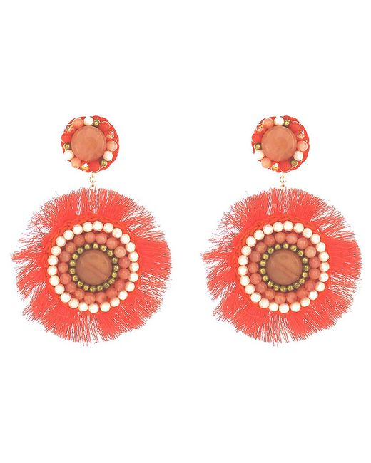 Panacea - Multicolor Coral Statement Earrings - Lyst