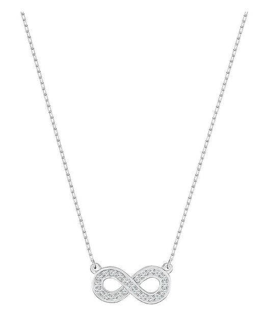 Swarovski | Metallic Infinity Pav Crystal Pendant Necklace | Lyst
