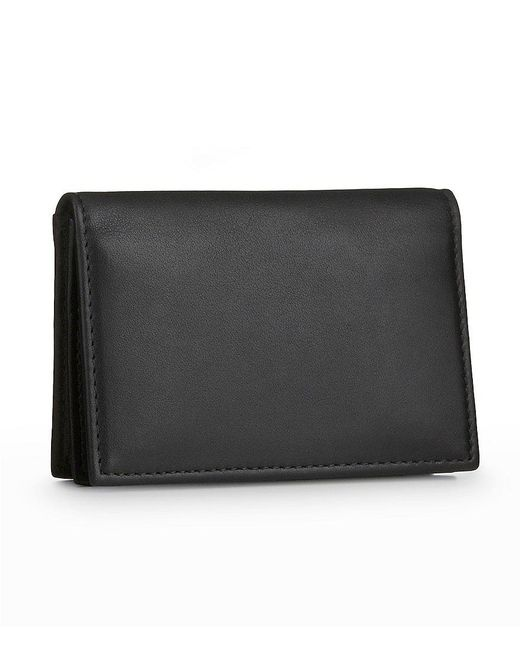 Bosca | Black Gusseted Card Wallet | Lyst