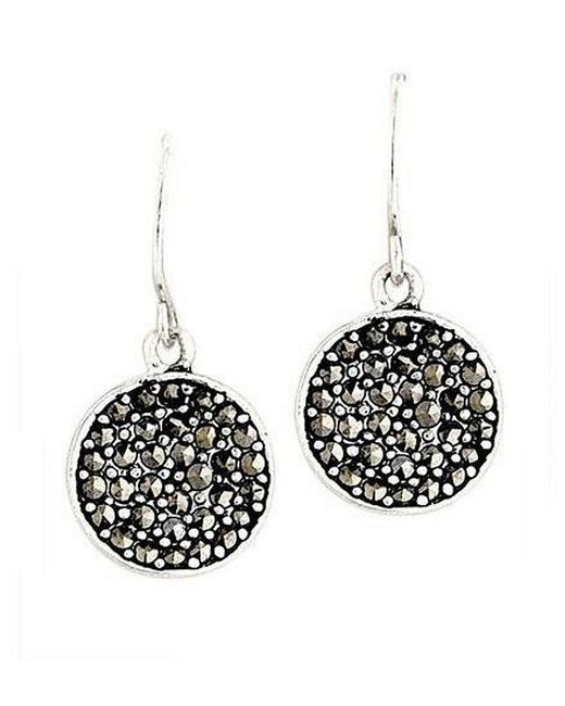 Kenneth Cole | Black Marcasite Paddle Earrings | Lyst
