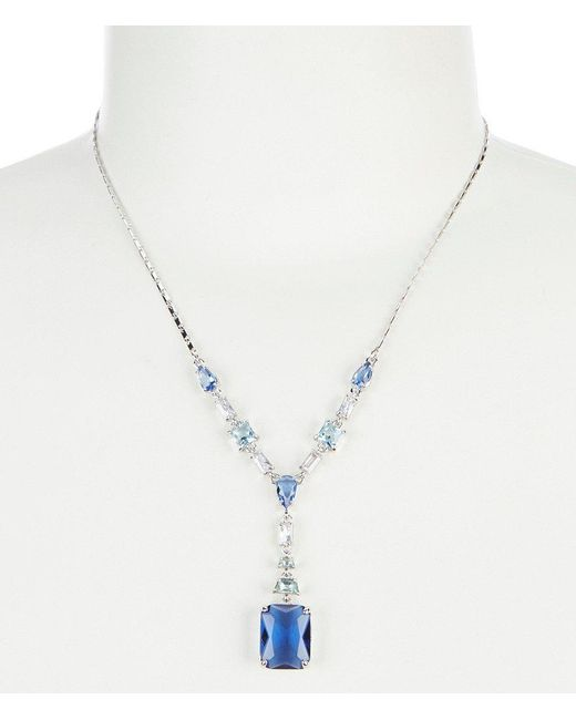 Carolee - Blue Y Necklace - Lyst