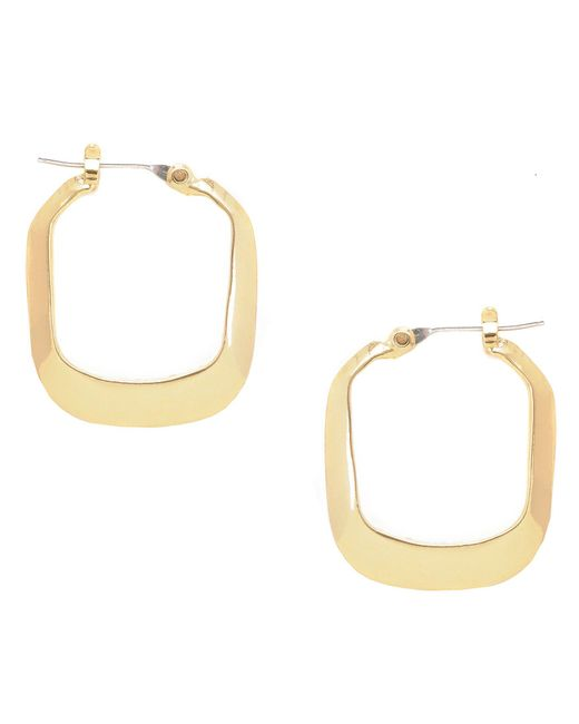 Kenneth Cole - Metallic Rectangle Hoop Earrings - Lyst