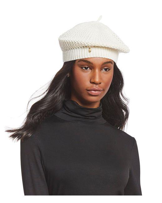 Badgley Mischka - Black Ladies' Deco-stitch Knit Beret - Lyst