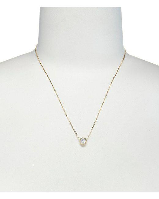 Nadri | Metallic Chanel 6mm Cubic Zirconia Pendant Necklace | Lyst