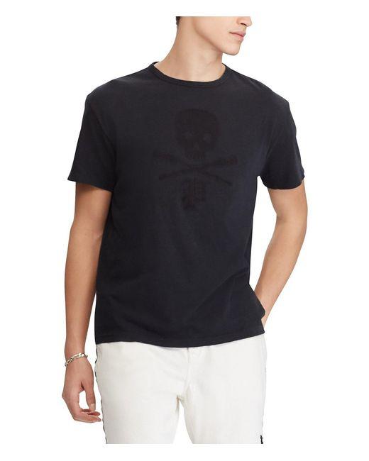 Polo Ralph Lauren - Black Tonal Skull-and-crossbones Short-sleeve Tee for Men - Lyst