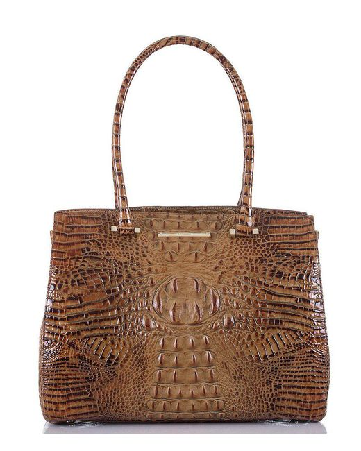 Brahmin | Brown Toasted Almond Collection Alice Work Tote | Lyst