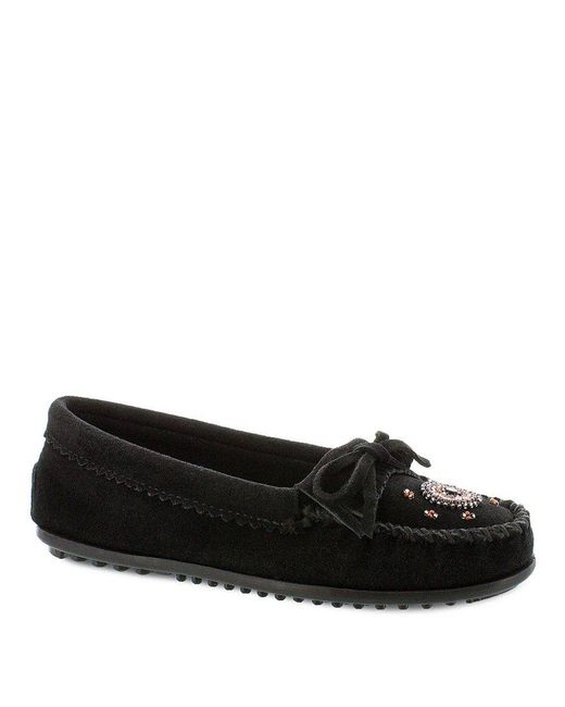 Minnetonka - Black Me To We Beaded Suede Moccasins - Lyst