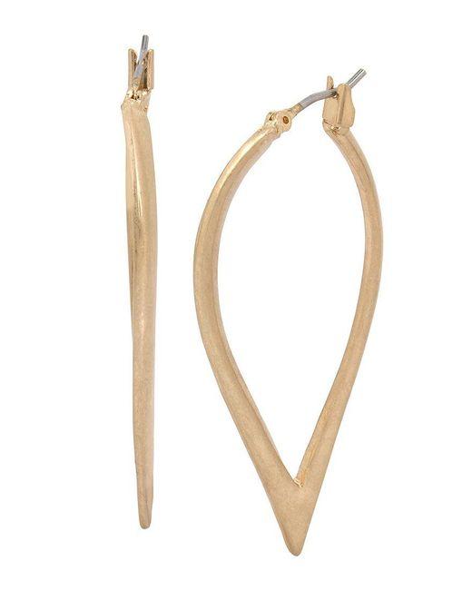 Kenneth Cole   Metallic Sculptural Hoop Earrings   Lyst