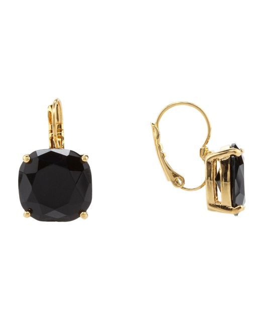 Kate Spade - Metallic Small Square Leverback Earrings - Lyst