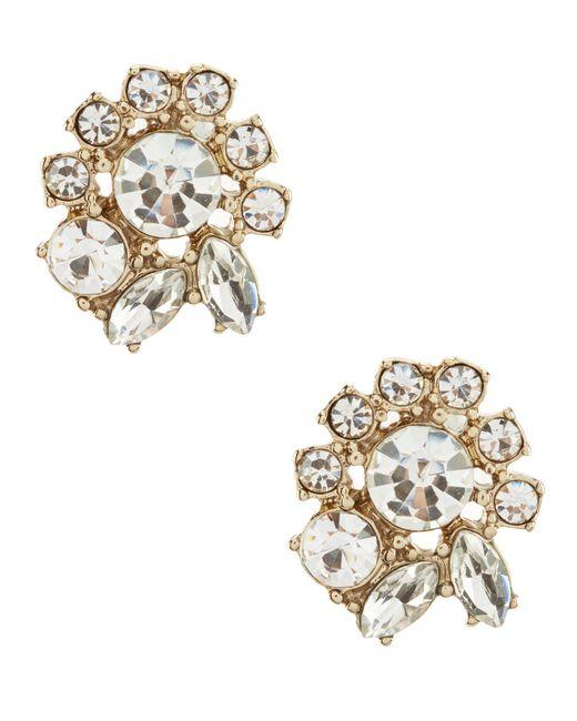 Marchesa - Metallic Faceted Stud Statement Earrings - Lyst