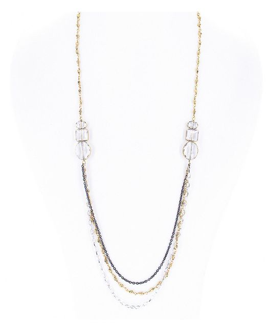 Panacea - Metallic Gold Wrapped Strand Necklace - Lyst