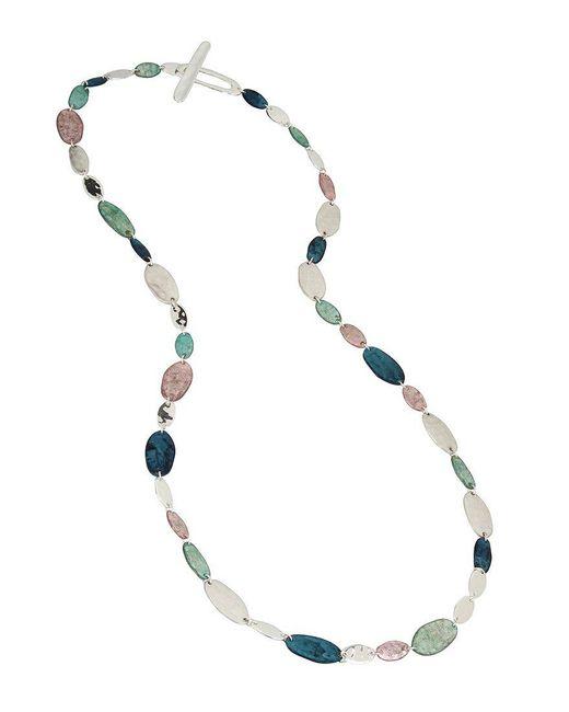 Robert Lee Morris | Metallic Silver-tone Multi-stone Long Necklace | Lyst