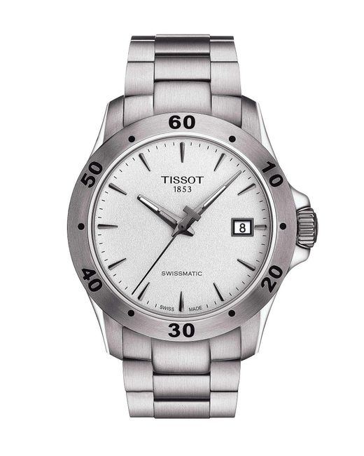 Tissot - Metallic V8 Men's Silver Stainless Steel Mechanical Automatic Watch for Men - Lyst
