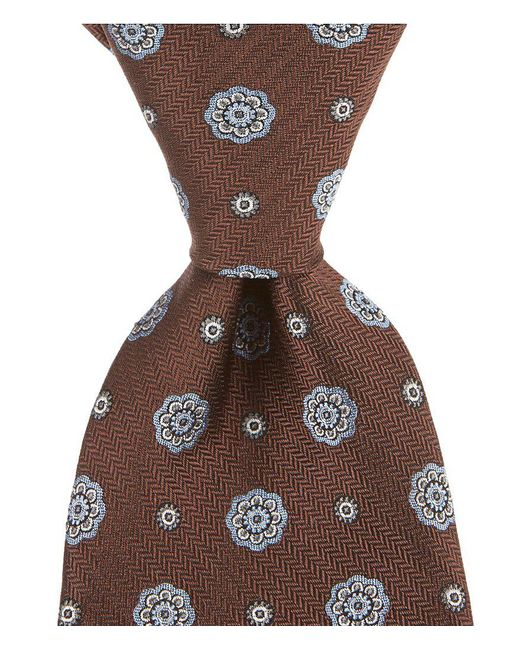 Brooks Brothers | Red Spaced Medallion Traditional Silk Tie for Men | Lyst