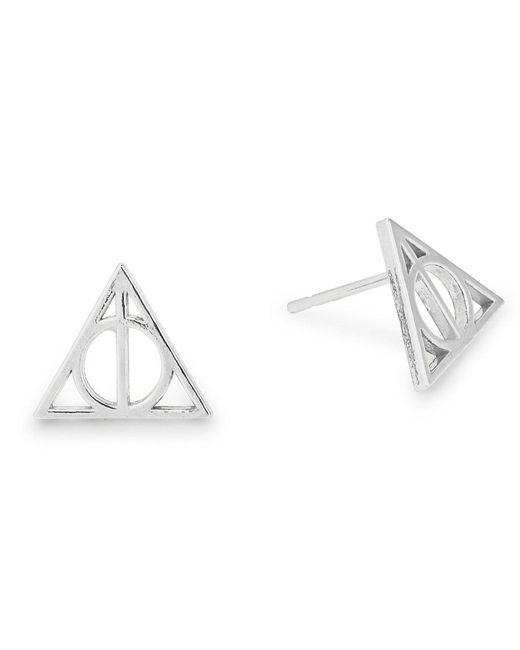 ALEX AND ANI - Metallic Harry Potter Deathly Hallows Earrings - Lyst