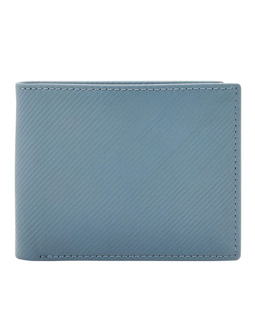 Fossil - Blue Niles Leather Rfid Bifold Flip Id Wallet for Men - Lyst