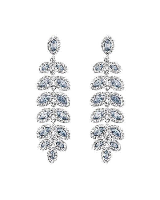 Swarovski - Blue Baron Crystal Pavé Chandelier Statement Earrings - Lyst