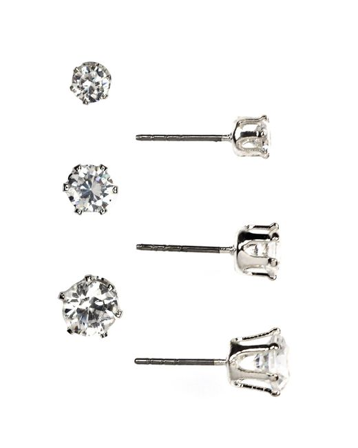 Anne Klein - Metallic Trio Stud Earrings Set - Lyst